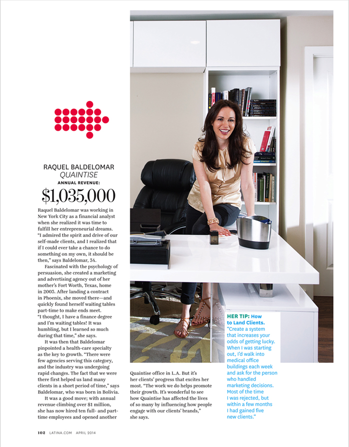 Raquel Baldelomar Featured in Latina Magazine