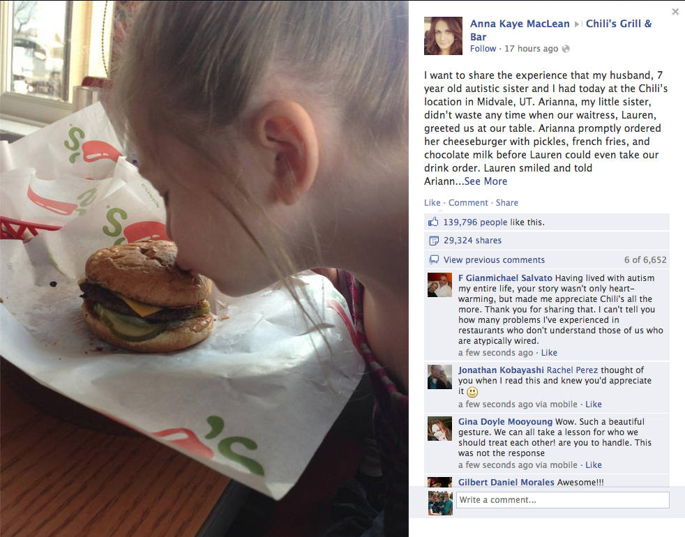 Screen Shot - Facebook - Positive Comments